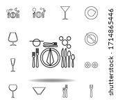european  table etiquette icon. ...