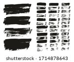 flat paint brush thin lines  ... | Shutterstock .eps vector #1714878643
