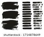 Flat Paint Brush Thin Lines  ...