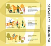 Equine Assisted Therapy Banner. ...
