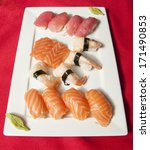 sushi mix on a plate   Shutterstock . vector #171490853