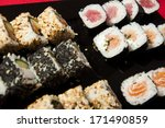 sushi mix on a plate   Shutterstock . vector #171490859