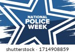 national police week in may.... | Shutterstock .eps vector #1714908859