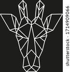 geometric animal  modern... | Shutterstock .eps vector #1714909066