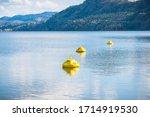 Yellow Buoys Marking Hazardous...
