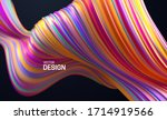 colorful striped wave. liquid... | Shutterstock .eps vector #1714919566