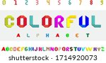 origami style font with... | Shutterstock .eps vector #1714920073