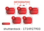 infographic design with red...