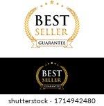 best seller guarantee golden...   Shutterstock .eps vector #1714942480