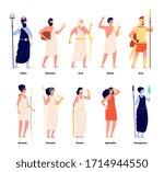 greek gods. mythology goddess...   Shutterstock .eps vector #1714944550