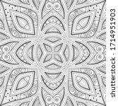monochrome seamless pattern... | Shutterstock .eps vector #1714951903