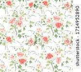 floral seamlessl pattern.... | Shutterstock .eps vector #1714952890