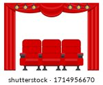 Three Red Comfortable Armchair...