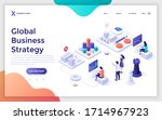 landing page template with... | Shutterstock .eps vector #1714967923