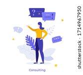 consultant  advisor or manager...   Shutterstock .eps vector #1714967950