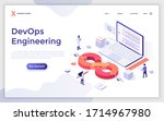 landing page template with... | Shutterstock .eps vector #1714967980