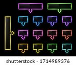neon infographics elements on...