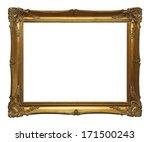 old gold leaf ornate frame... | Shutterstock . vector #171500243
