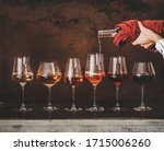 Shades Of Rose Wine In Stemmed...