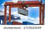 Harbor Cargo Cranes Shipping...