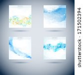set of abstract vector moder... | Shutterstock .eps vector #171502394