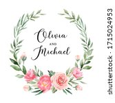 Wedding Badge With Beautiful...