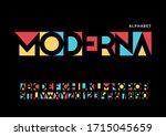 modern font. san serif... | Shutterstock .eps vector #1715045659