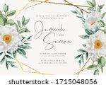 beautiful wedding invitation... | Shutterstock .eps vector #1715048056
