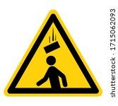 warning falling debris symbol... | Shutterstock .eps vector #1715062093