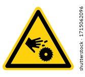 warning cutting hand symbol... | Shutterstock .eps vector #1715062096