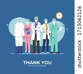 thank you doctors and nurses...   Shutterstock .eps vector #1715062126