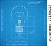 Blueprint Of Bulb Lamp....