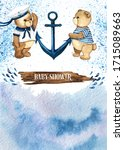 Little Sailor. Watercolor Hand...