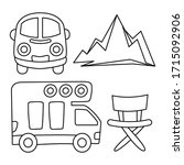recreational vehicle and... | Shutterstock .eps vector #1715092906