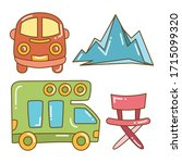 recreational vehicle and camper ... | Shutterstock .eps vector #1715099320
