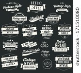 collection of vintage retro... | Shutterstock .eps vector #171510080