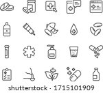 set of medicine icons  pharmacy ... | Shutterstock .eps vector #1715101909