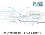 abstract futuristic circuit... | Shutterstock .eps vector #1715110549