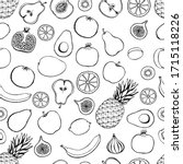 seamless pattern with hand... | Shutterstock .eps vector #1715118226