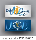 grand opening banners with... | Shutterstock .eps vector #1715118496