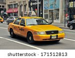 New York  Usa   April 11  Taxi...