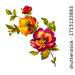 Digital Textile Designs Flowers ...
