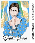 fashion illustration with ...   Shutterstock .eps vector #1715135020