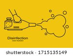 disinfection black line icon.... | Shutterstock .eps vector #1715135149