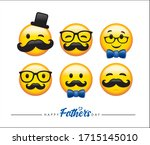 happy father's day greeting...   Shutterstock .eps vector #1715145010