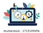 vector illustration  online... | Shutterstock .eps vector #1715149696