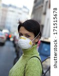 Small photo of Air Pollution, Woman