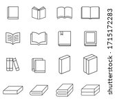 books thin line icons vector....