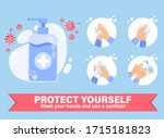 use hand sanitizer infographics....   Shutterstock .eps vector #1715181823