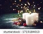 Christmas Card With Holiday...